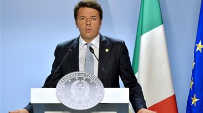 Renzi said Sisi was the only person that could save Egypt [Reuters]