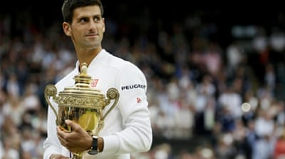 Djokovic became the first man since 2007 to retain the Wimbledon men's title [Reuters]