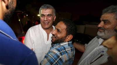 Rajab was serving the second month of six-month sentence for insulting the security establishment [Reuters]