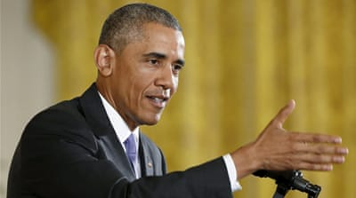 Obama has been holding an intense public lobbying to convince Congress to approve the Iran deal [Reuters]