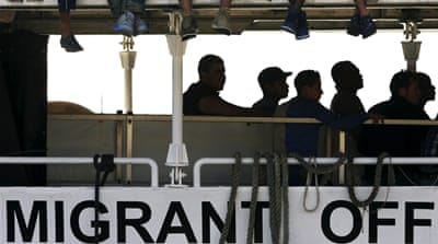 The Italian coastguard said the rescues had all been carried out in an area around 55km from the coast of Libya [AP]