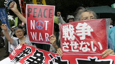 A-bomb victims forsaken in push to militarise Japan