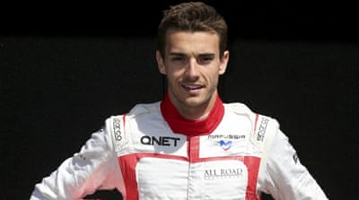 Bianchi had been in a coma since the accident at Suzuka last October [AP]