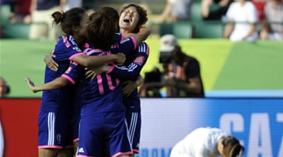Japan had won the 2011 edition by beating the US in the final [EPA]
