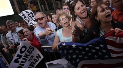 Thousands march in New York against Iran deal