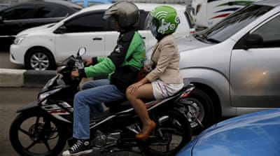 New app shakes up Indonesia's motorbike taxi market
