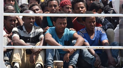 The vast majority of the migrants fleeing war and poverty in Africa and the Middle East depart from Libya [AP]
