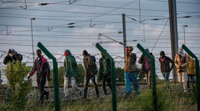 For several weeks, there have been many attempts by large numbers of migrants to enter the Eurotunnel premises [AP]