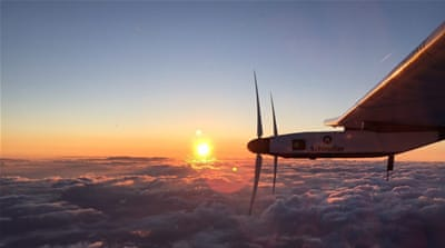 The Solar Impulse 2 also hopes to break records for the longest distance flown by an aircraft powered only by the sun [EPA]