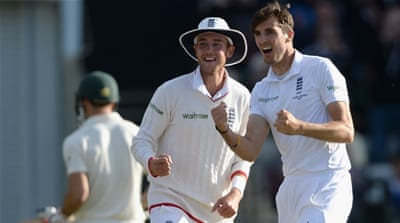 England on brink of Ashes lead after Finn runs amok