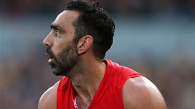 Goodes has twice won the Australian Football League's highest honour, the Brownlow Medal, and has been named Australian of the Year [Getty Images]