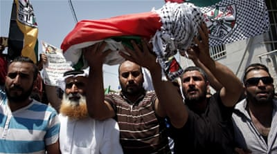 Palestinians bury baby killed in West Bank arson attack