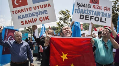 Relations between Turkey and China have been strained over the treatment of Muslim Uighur people in China's Xinjiang region [AFP]