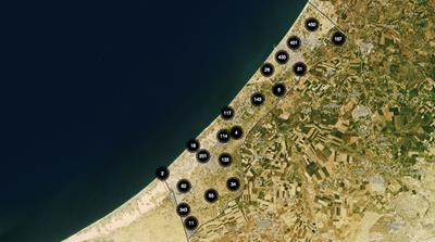 Mapping Israel's strikes on Gaza