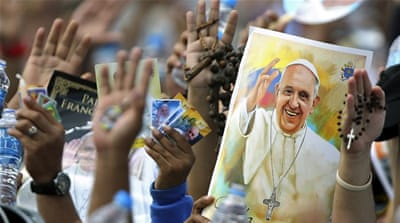 Half a million join Pope Francis for mass in Ecuador