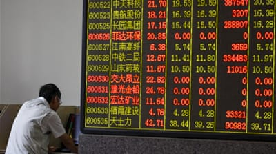 China has seen a sell-off in the last several weeks amounting to nearly $3.2 trillion [Reuters]