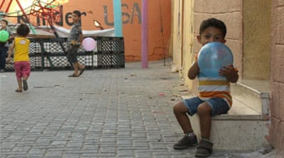 In one Gaza neighbourhood, a bit of colour prevails