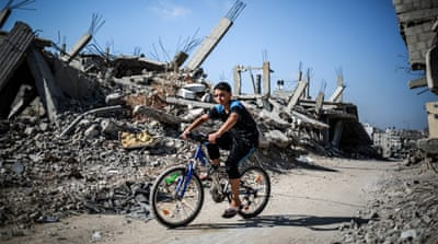 Recovery has been slow in the Gaza Strip, with aid groups saying Israel has obstructed the flow of building materials across its border [EPA]