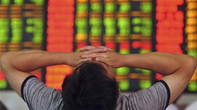 Since mid-June, the Chinese stock market has lost almost a third of its value - a loss of $3.2 trillion [AP]
