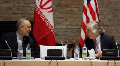 US Energy Secretary Ernest Moniz and Iranian nuclear chief Ali Akbar Salehi are optimistic at the prospects of reaching a deal [AP]