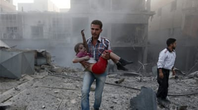 More than 1,600 civilians were killed during the month of July, a majority due to air strikes and barrel bombs [AFP]