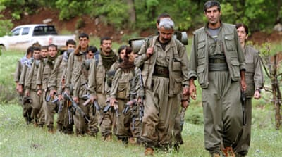 One the ground in Iraq, the PKK is seen as a rival by Iraq's Kurdish regional government [AP]