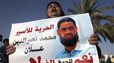 The Red Cross warned last week that hunger-striking Mohammed Allaan's life is in immediate danger [AFP]