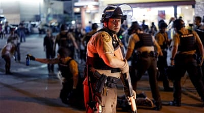 Police shooting and protests put Ferguson back on edge