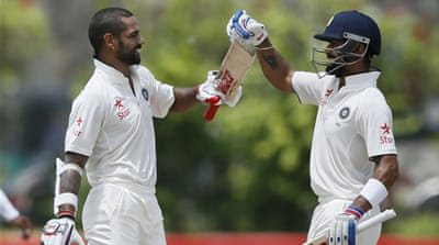 Dhawan and Kohli put on a 227-run stand [Reuters]