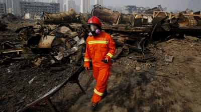 Evacuations as chemical fears grow at China blast site