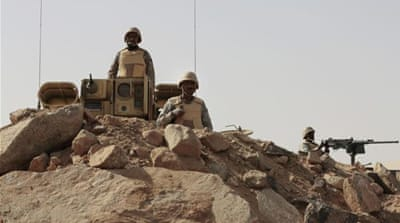 Saudi ground troops clashed with Houthi rebels on Sunday at Najran and Jazan areas, security sources said [AP]