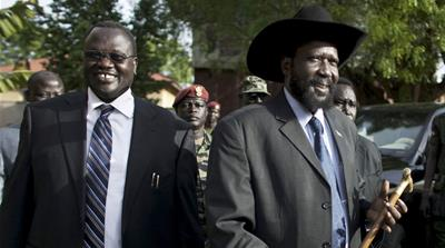 Rebels gathered earlier this month in Pagak, South Sudan, to review the proposed peace agreement, especially as pertaining to power sharing [Simona Foltyn/Al Jazeera]