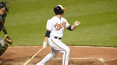 Clevenger's three-run homer gave the Orioles a 3-1 lead in the fourth inning [Getty Images]