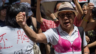 Hong Kong 'breast walk' held over court ruling