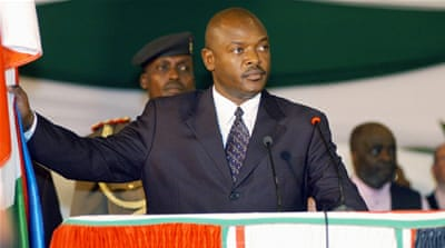 At least 100 people have been killed since Nkurunziza announced he would run for a third term in April [AP]