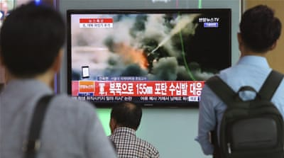 The incident comes at a time when South Korea and the US are holding annual military drills [AP]