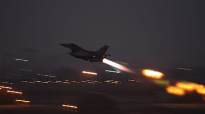 An F-16 Fighting Falcon takes off from Incirlik airbase [AP]