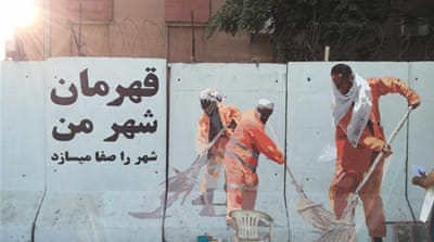 Afghan graffiti artist strives to beautify Kabul