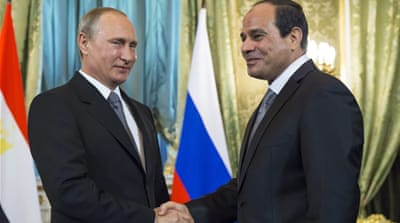 Putin announced Russia's participation in the construction of a nuclear power plant in Egypt [EPA]