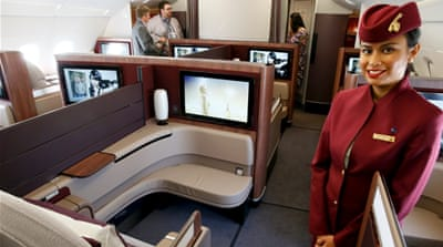 About 75 percent of cabin crew members at Qatar Airways are women [Reuters]