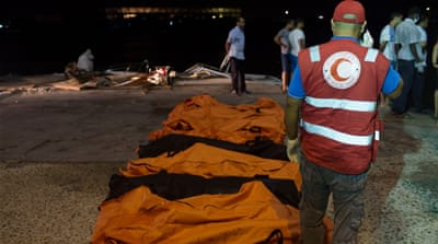 Many appeared to have been trapped in the cargo hold when the boat capsized [Reuters]