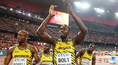 Bolt grabs third gold in Jamaica's 4x100m relay win