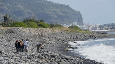 The wing flap was found on Wednesday on the French island of La Reunion [AP]