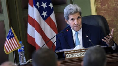 Before flying to Qatar, Kerry met with Egyptian President Abdel Fattah el-Sisi in Cairo [AP]