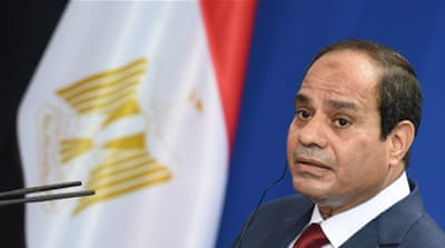 President Abdel Fattah el-Sisi, who was elected in presidential elections last year, holds legislative authority [EPA]