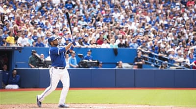 Encarnacion had nine RBIs in addition to the three home runs [AP]
