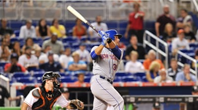 Rookie left fielder Conforto hit his first career home run [Steve Mitchell-USA TODAY Sport]