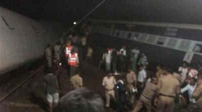 The two trains travelling in opposite directions derailed within minutes of each other [via NDTV]