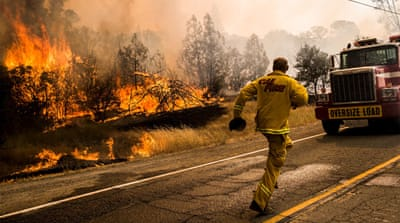 Californian firefighters say Rocky is spreading at a historic rate of speed [Reuters]