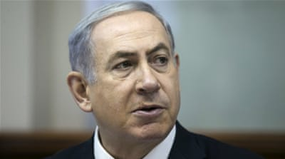 'I oppose this deal because I want to prevent war. And this deal will bring war,' Netanyahu said in his webcast [AP]